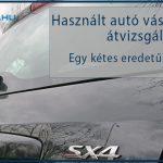 Használt autó vásárlás előtti átvizsgálás – egy kétes eredetű SX4 esete